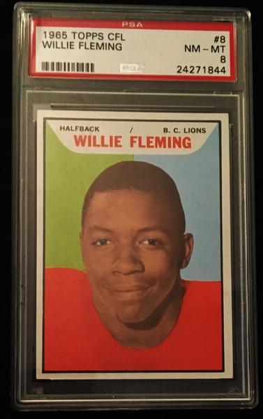 1965 Topps #08 Willie Fleming PSA 8