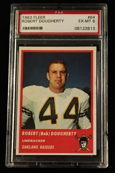 1963 Fleer #64 Robert Dougherty SP PSA 6