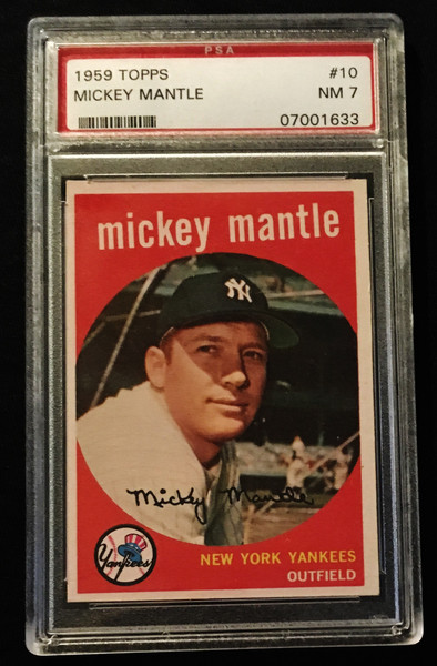 1959 Topps #010 Mickey Mantle PSA 7