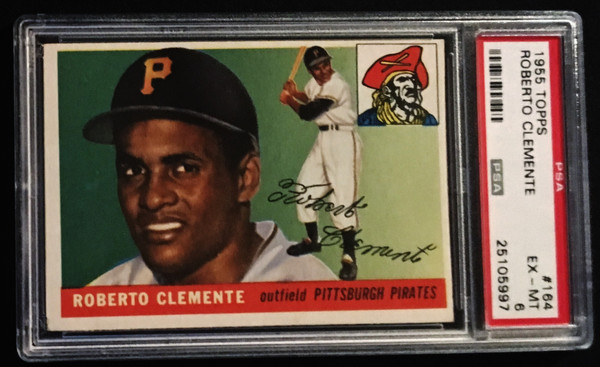 1955 Topps #164 Roberto Clemente RC PSA 6