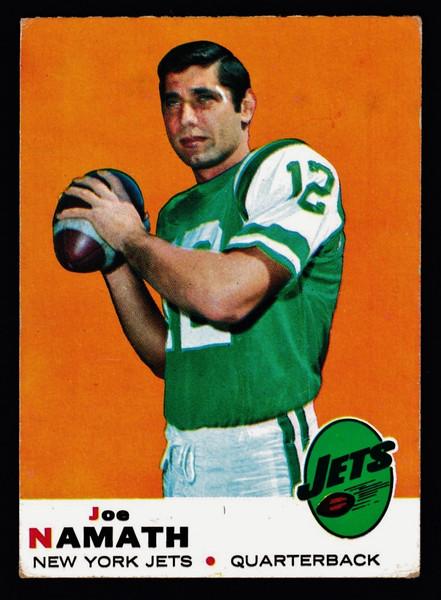 1969 Topps #100 Joe Namath VG