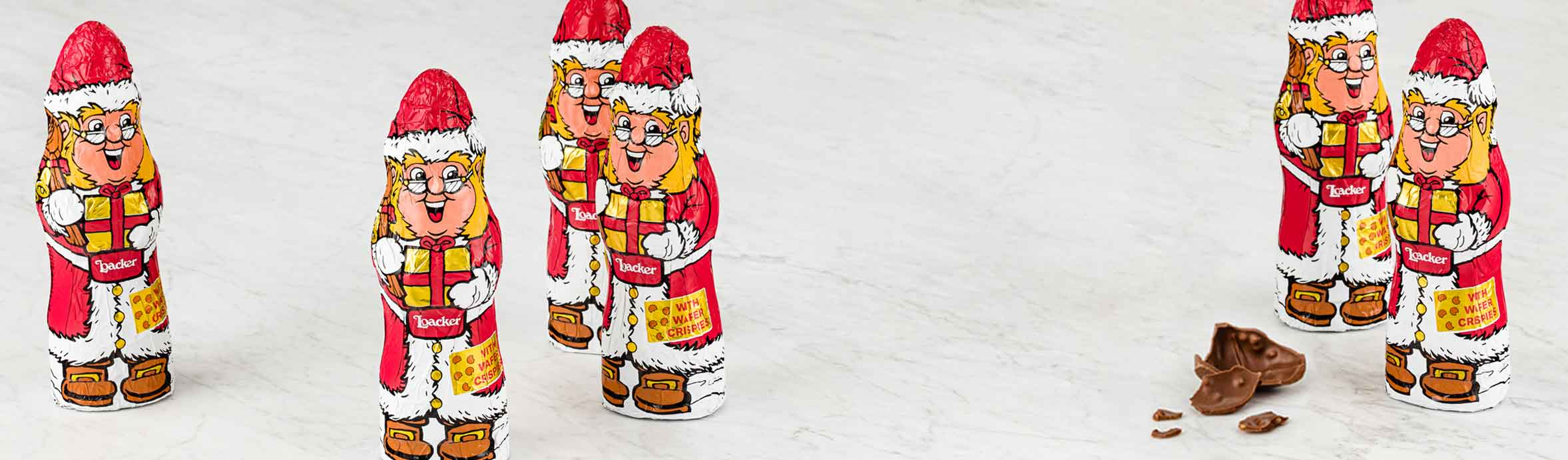 Gnometto Babbo Natale al cioccolato
