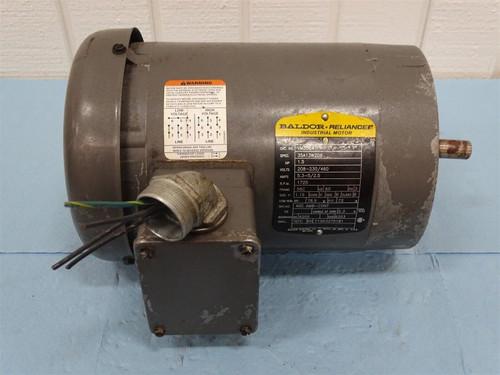 Baldor Reliance VM3554 Motor 1.5HP 208-230/460V 5.3-5/2.5A 1725RPM 3 Phase - 29251_01.jpg