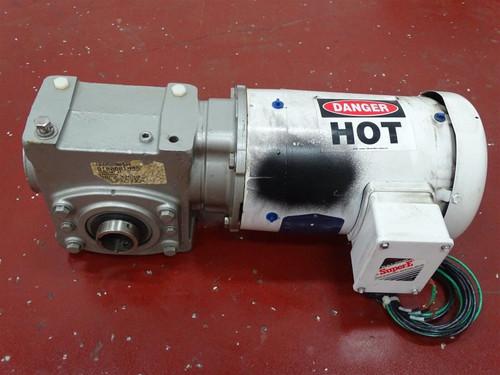 Baldor/Reliance VEFWDM3546T Motor, Washdown 1HP 1760RPM w/23QZ30H14 Reducer 30:1 - 29390_01.jpg