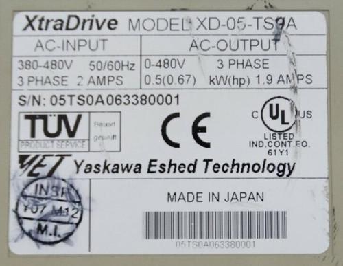 Yaskawa XD-05-TS Xtradrive Servo Driver - 69680_01.jpg