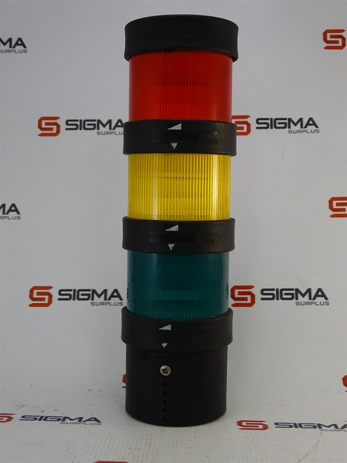 Telemecanique XVBC21 Lightbase w/ Red, Yellow, and Green lights - 27320_01.jpg
