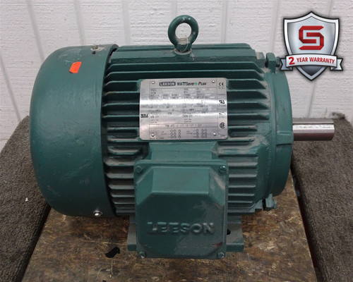 Leeson 171634.60 Motor 3HP 1180RPM 3PH 230/460VAC 9.8-9.4/4.7A 60Hz C213T11FW1A - 32938_01.jpg
