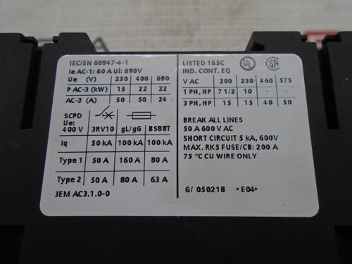 Siemens 3RT1036-1BB40 Contactor, 50A, 24VDC - 88425_03.jpg