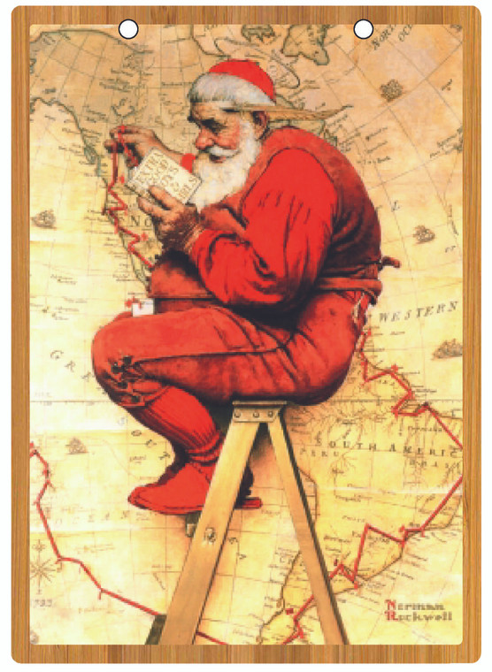 Norman Rockwell Christmas  Print Collection with Easel