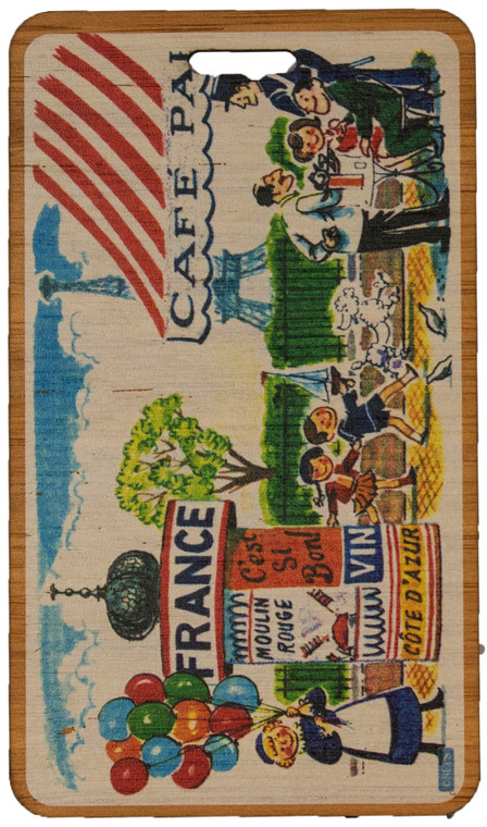 Saturday Evening Post: French Cafe Bag Tag