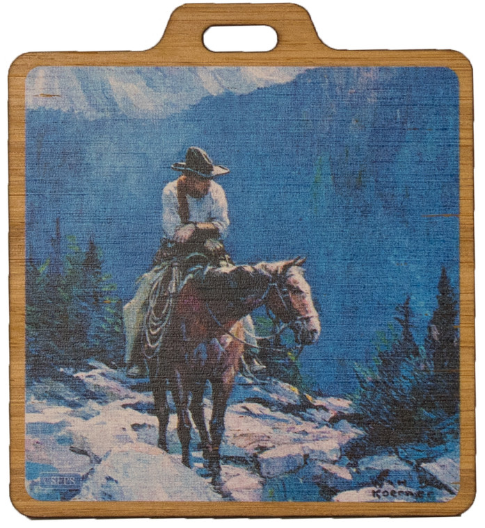 Saturday Evening Post: Horseback Bag Tag