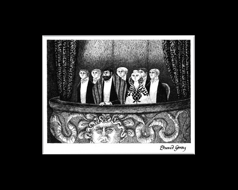 Edward Gorey : The Blue Aspic Laser Cel