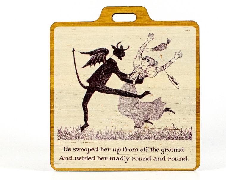 Edward Gorey - The Disrespectful Summons Small Bag Tag