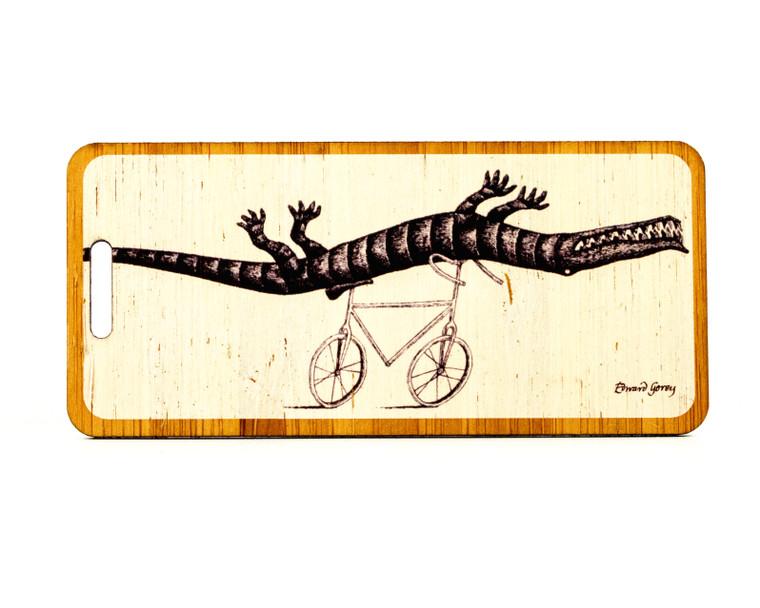 Edward Gorey- The Epiplectic Bicycle Bag Tag