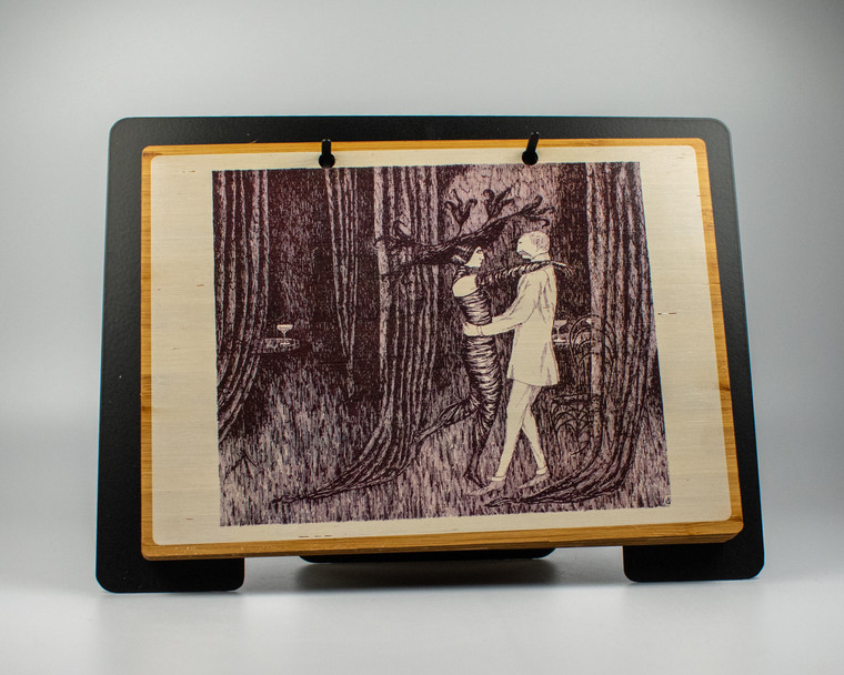 Edward Gorey Close Encounters Art Collection with Easel