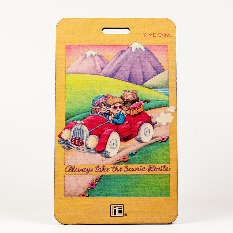 Mary Engelbreit- Take the Scenic Route Bag Tag