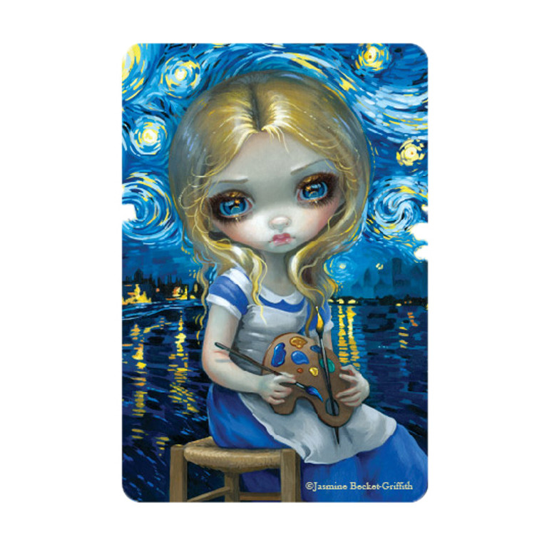 """Jasmine Becket-Griffith-  """"Alice in a Van Gogh Nocture""""  Magnet"""