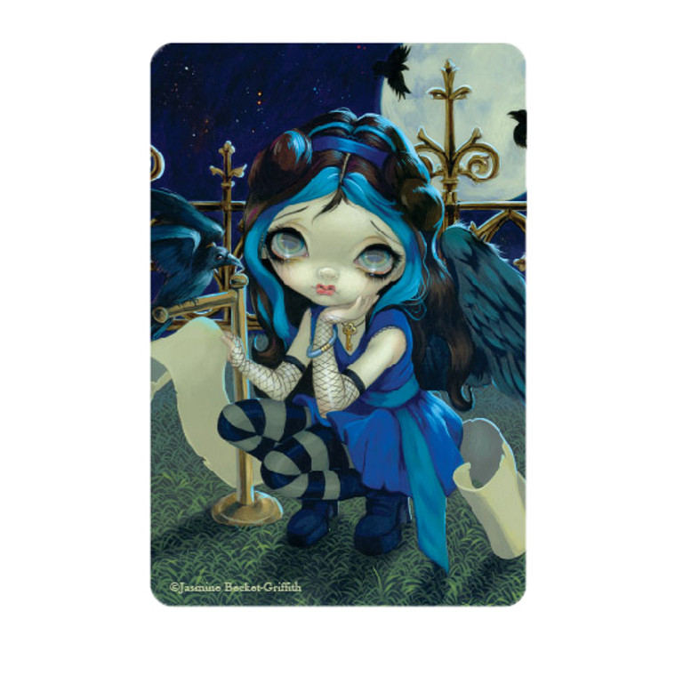 """Jasmine Becket-Griffith-   """"Quoth the Raven Nevermore""""  Magnet"""