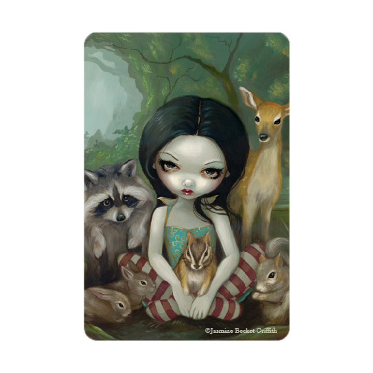 """Jasmine Becket-Griffith- """"Snow White and Her Animal Friends""""  Magnet"""