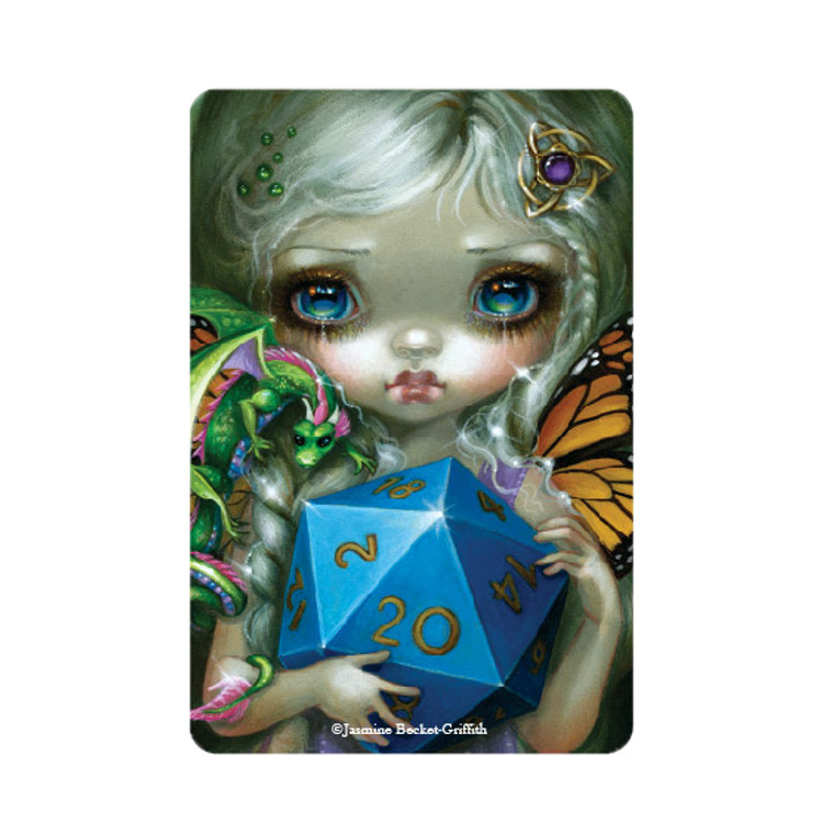 "Jasmine Becket-Griffith-  ""20 Sided Dice Fairy""  Magnet"