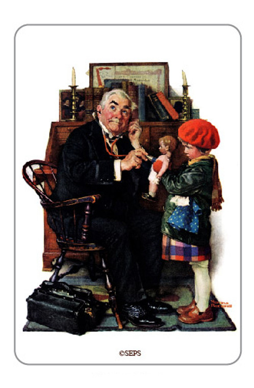 Saturday Evening Post- Dolly Doctor Wood Magnet