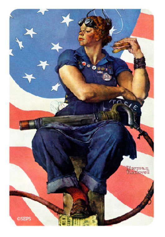 Saturday Evening Post- Rosie the Riveter Wood Magnet