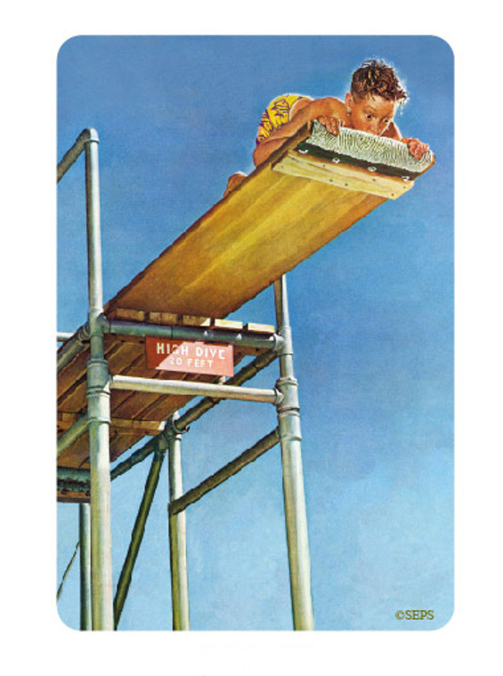 Saturday Evening Post- Diving Board Wood Magnet