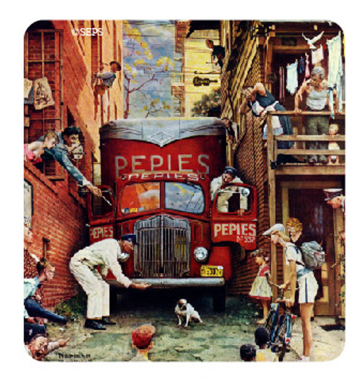 Saturday Evening Post- Truck and Dog