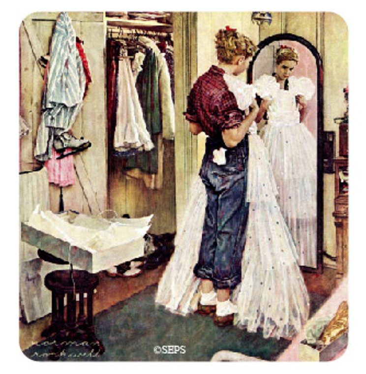 Saturday Evening Post- Wedding Dress Wood Magnet