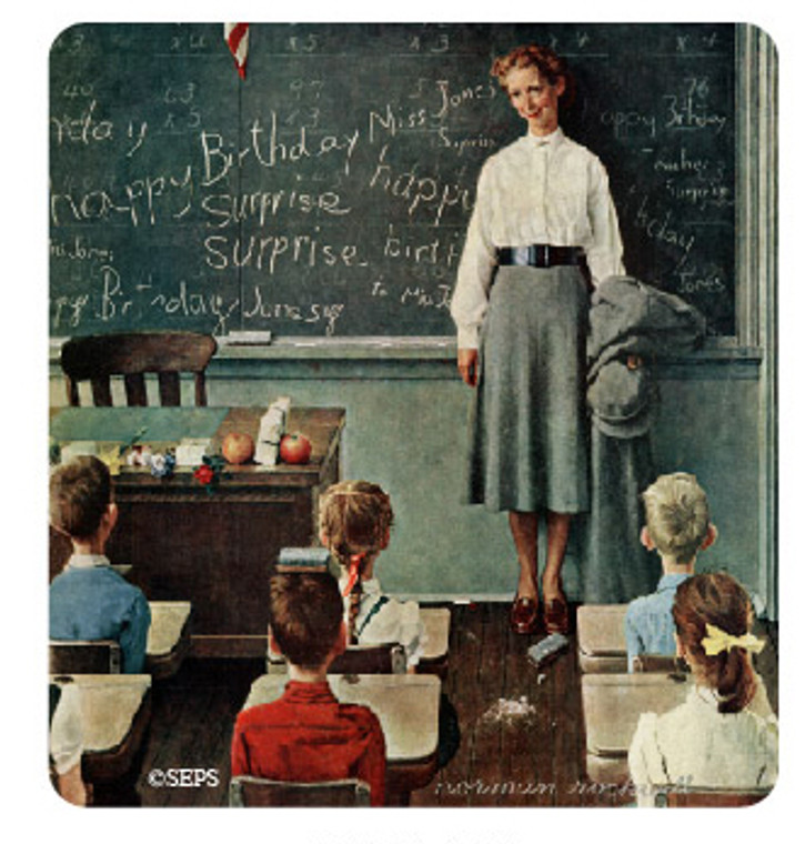 Saturday Evening Post-  Teacher Wood Magnet