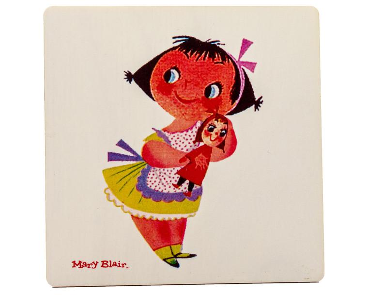 "Mary Blair ""Children"" Coaster Set w/ Base"