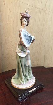 """FLORENCE FIGURINE SCULPTURE """"LADY WITH FAN"""" 849C"""
