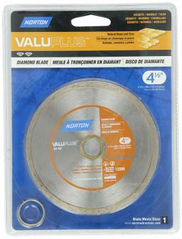 """Norton Valuplus 4-1/2""""x 0.080"""" Portable Continuous Rim Diamond Blade 684088"""