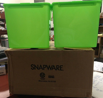 SNAPWARE DEBBIE MEYER PORTION CONTROL LOCK-TITE GREEN BOXES 2 PIECE TUB SET NEW