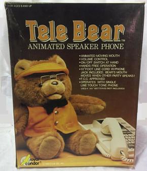 TALKING BEAR Vintage 1988 Tele Bear Animated Speakerphone USE WITH PHONE! RARE!
