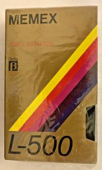 Brand New MEMEX L-500 Blank Betamax / Beta Video Tapes  Lot of 3, Factory Sealed