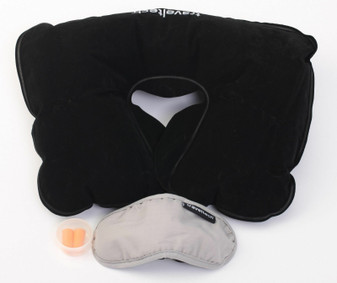 3-IN-1 COMFORT TRAVEL KIT with travel pillow, sleep mask and ear plugs NEW!
