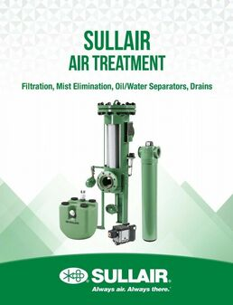 Sullair ELM-800 Mist Eliminator & FX Series Standard NPT Filter (New!)