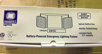 NEW IN BOX REGANT EM150 Battery Powered COMMERIAL Emergency Lighting Fixture
