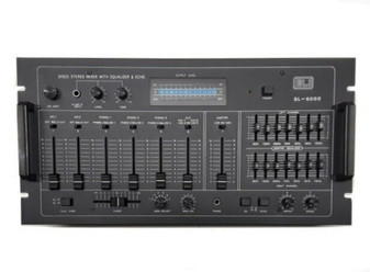 """Eli SL-6000 19"""" Professional Stereo Audio Mixer 