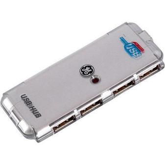 4-Port USB HUB GE Portable Compact for PC Mac Laptop Notebook Desktop