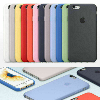Original Silicone Case Luxury For Apple iPhone 6 s Plus 7 8 SE Genuine OEM Cover
