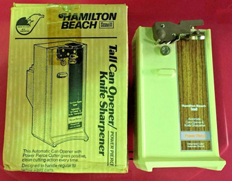 Can Opener Knife Sharpener Electric Power HAMILTON BEACH Cooking Tool ALMOND NEW