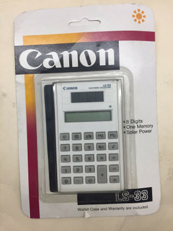 Canon LS-33 Solar Power Calculator 8-Digit Display Screen, BRAND NEW!