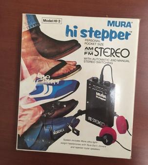 Mura Hi Stepper Personal Pocket Size AM/FM Stereo New Model HI-3! BRAND NEW!!!