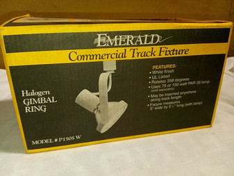 EMERALD | COMMERCIAL HALOGEN GIMBAL TRACK LIGHT | M: P1505W | FREE SHIPPING