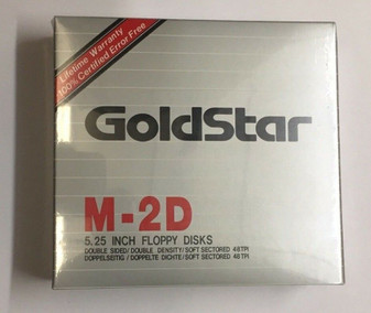 "5 1/4""(5.25"") New Box 10 GOLDSTAR DSDD Disk Floppy for Atari 800/XL/XE"
