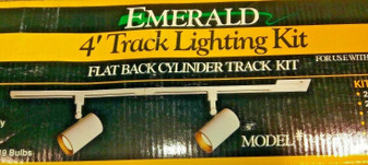 EMERALD | 4' FLATBACK CYLINDER TRACK LIGHTNING KIT | NEW IN BOX | FREE SHIPPING
