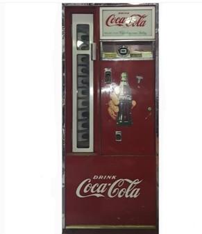 VINTAGE COCA COLA COKE DRINK BOTTLE  SODA MACHINE COOLER Cavalier