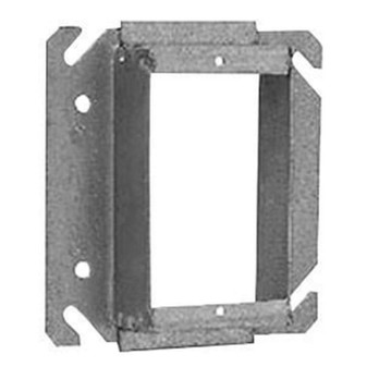 CROUSE-HINDS TP522 Steel Tile Wall Cover 4 in. Square Outlet Box, 3/4 in. Raised